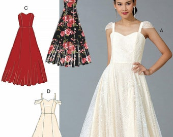 UNCUT Misses Dress Sewing Pattern McCalls 7718 Size 6 8 10 12 14 16 18 20 22 Formal Prom Wedding Ball Gown Long Strapless
