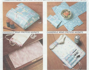 UNCUT Craft Sewing Pattern McCall's 6278 Placemat, Sewing Organizer, Drawer Liner, Casserole Wrap, Jewelry Organizer