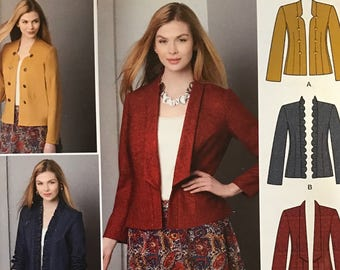 UNCUT Simplicity 1542 Jacket, Skirt Sewing Pattern Size 4-6-8-10-12 Outfit, Wardrobe, Spring, Summer, Blazer, Flared Skirt, Knee Length
