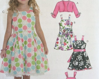 1f9c4beb7 UNCUT Girls Kids Childs Dress and Shrug Pattern Simplicity