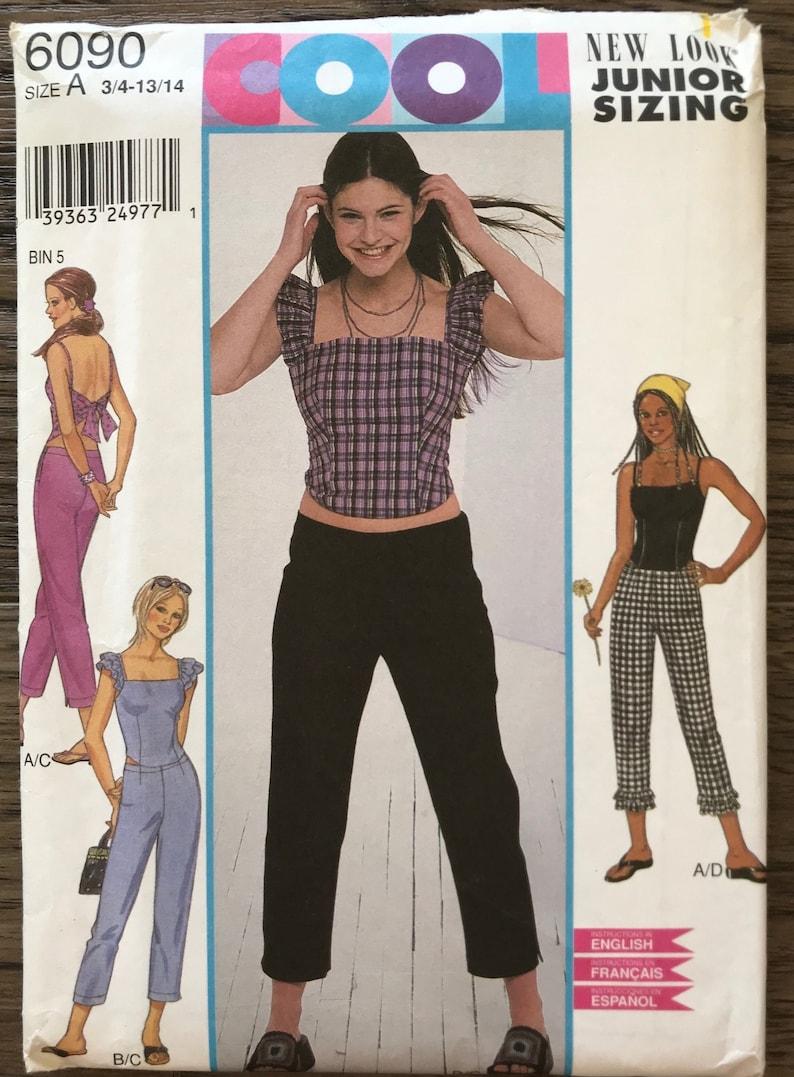7bb3a380c869db UNCUT Girl s Top Capri Pants Sewing Pattern New Look 6090