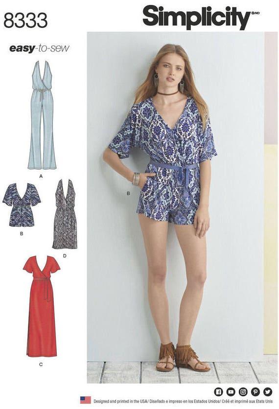UNCUT Misses\' Jumpsuit Romper and Dress Sewing Pattern   Etsy