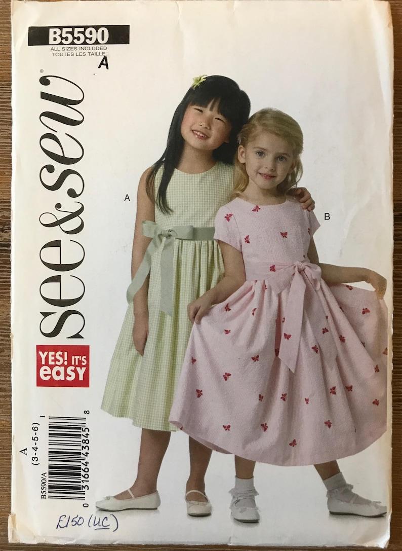 6ee9de34c1652 Non-coupe les filles les enfants Childs robe Couture patron