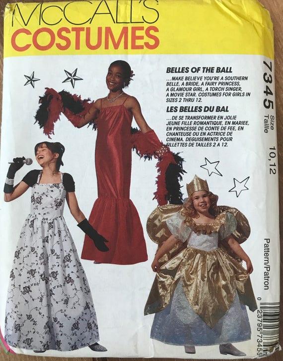 Uncut Kids Girls Dress Pattern Mccalls 7345 Etsy