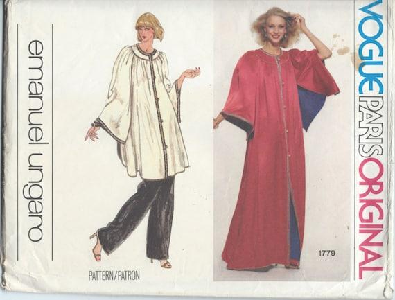 UNCUT Vintage 1970\'s Caftan Robe Pants Sewing Pattern | Etsy