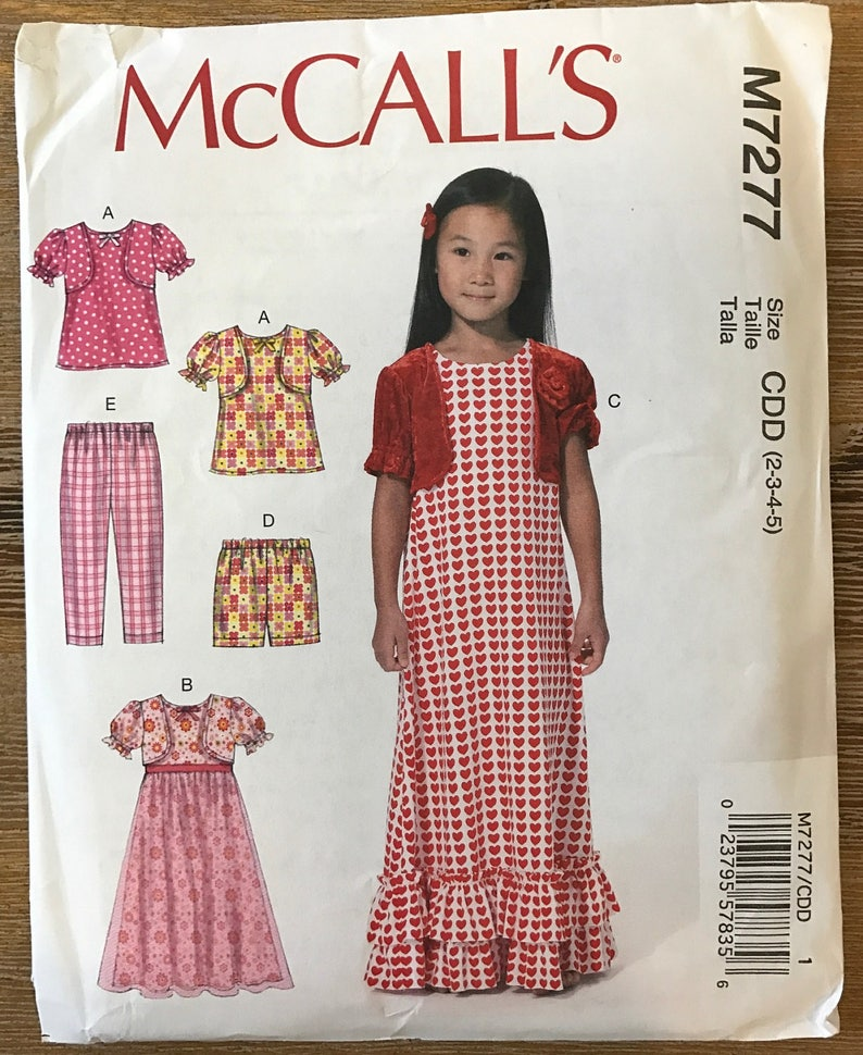 New Look 6279 Girls/' Dress 4 7 5 6 8     Sewing Pattern Top and Pants 3