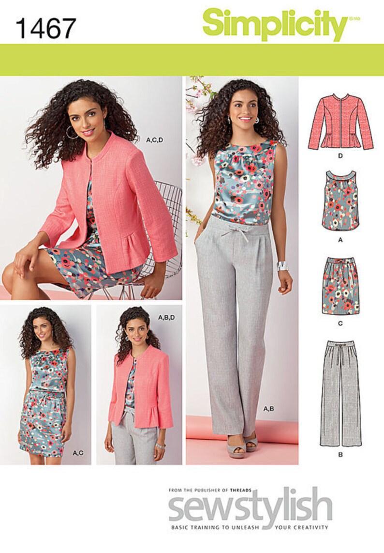 4f5a0503a0 UNCUT Misses  Top Jacket Skirt Pants Sewing Pattern