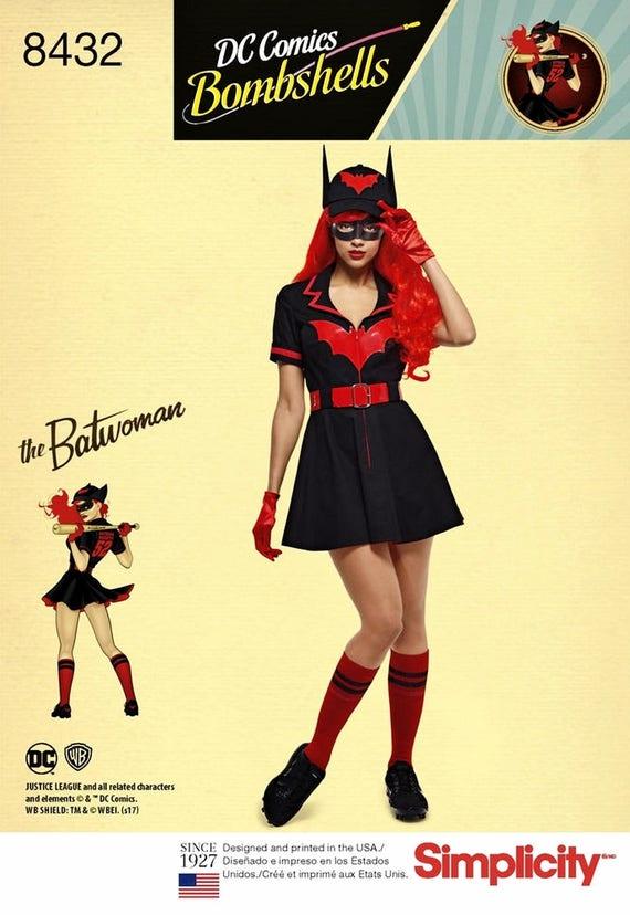 UNBESCHNITTENEN Misses Batwoman Kostüm Nähen Muster   Etsy