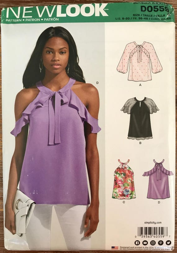 UNBESCHNITTENEN Misses Shirt Nähen Muster neue Look 6490 Größe | Etsy