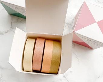 Yellow Rainbow Washi Tape - 4 Pcs - Planner tape, Journal tape, Planner washi tape, Craft Accessories, Crafts, Scrapbooking, Journaling