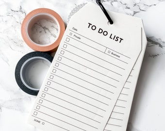 To Do List - 52 Page Loose Leaf Memo Pad - Daily Schedule, List Planner, Memo Note Pads, Study Work Notepads, Stationery Supplies, Craft