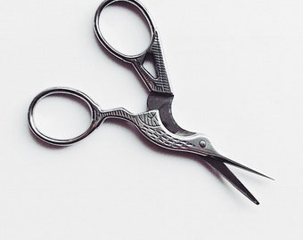 Silver Embroidery Scissors Delicate Bird Antique Style - Sewing Scissors