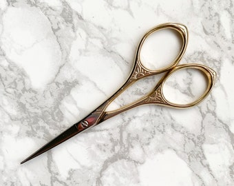 Gold Embroidery Scissors - Gold Embroidery Snips - Antique Style Scissors - Craft Scissors - Sewing Scissors - Craft Supplies - Craft Tools