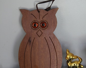 Vintage Solid Wood OWL Cutting Board,Vintage Wood OWL Kitchen Wall Decor,Vintage  Owl Art,Owl Kitchen Decor, Owl Cutting Board