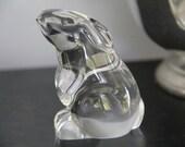 Baccarat Crystal Sitting Rabbit Figurine,Vintage crystal rabbit figure,Vintage Baccarat crystal,Vintage Rabbit figurine, Bunny Rabbit figure