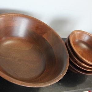 Vintage Wood Divided ServingSnack Bowl RARE Musical Rotating Bowl Large Vintage Wood Bowl,Vintage Serving Bowl Vintage divided bowl