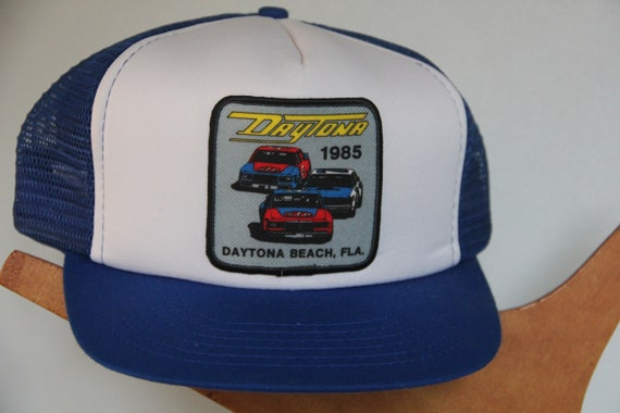 NOS Vintage 1985 Daytona Beach Race Snapback hat,