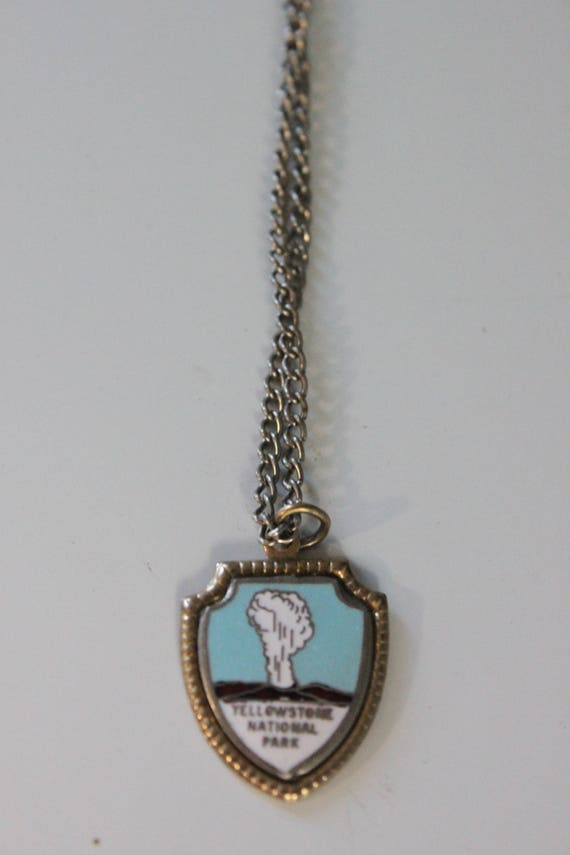 Vintage Yellowstone National Park necklace, Vintag