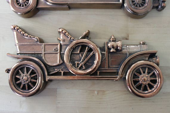 3 Vintage Bronze Plastic Automobiles Wall Decor Classic Car | Etsy