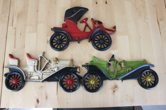 Set of 3 Vintage Metal Automobiles Wall Decor Classic Car | Etsy