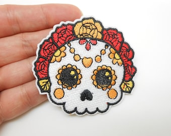 Mexican skull and cross, heat-sticking badge, hide a hole, patch, customization, Halloween