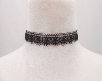 Lace and stainless steel Choker