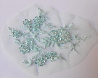 Seagreen color beadwork