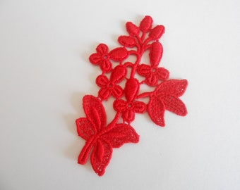 Red bouquet of 7 x 5 cm