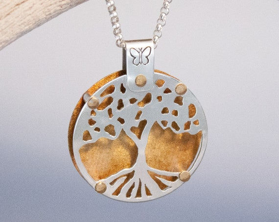 Tree of Life Necklace, Handmade Sterling Tree of Life Pendant