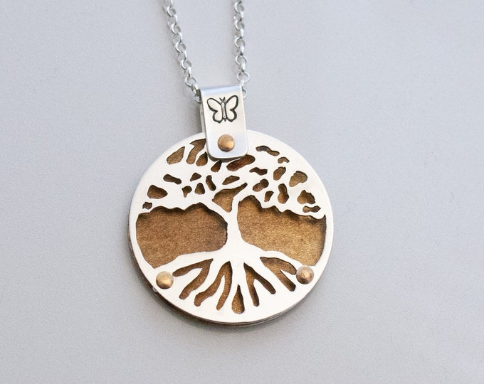 Tree of Life Necklace, Handmade Sterling Silver Tree of Life, Rowan Tree Necklace