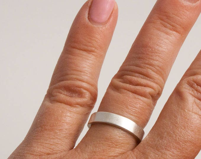 3mm Sterling Silver Satin Finish Ring