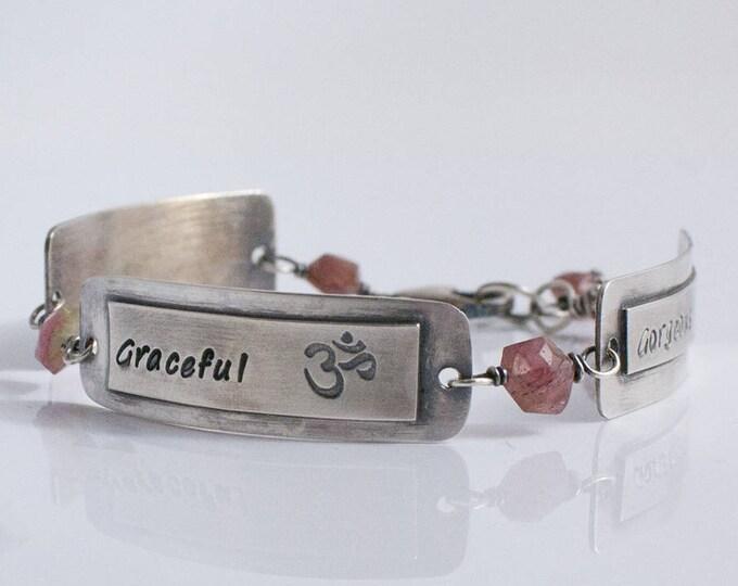 Contract Bracelet, Custom Hand Stamped Argentium Silver Bracelet, Personalized Bracelet