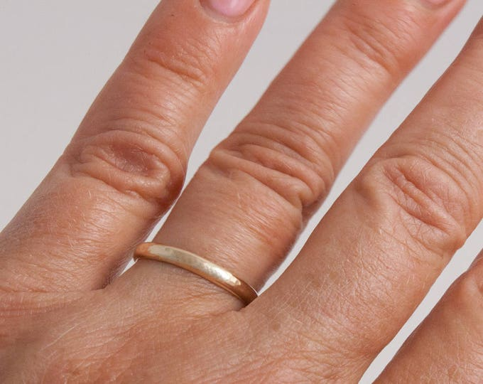 Hammered Gold Ring, 14K Gold Fill Ring