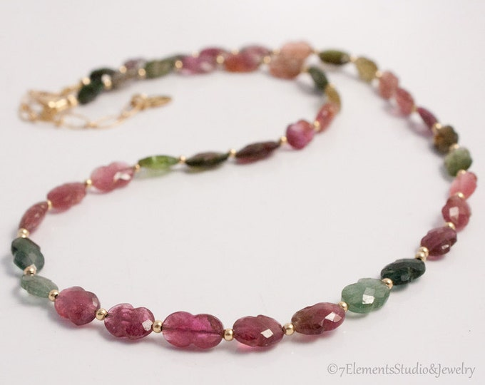 Tourmaline and 14K Gold Fill Necklace