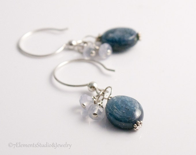 Sterling Silver and Blue Kyanite Earrings