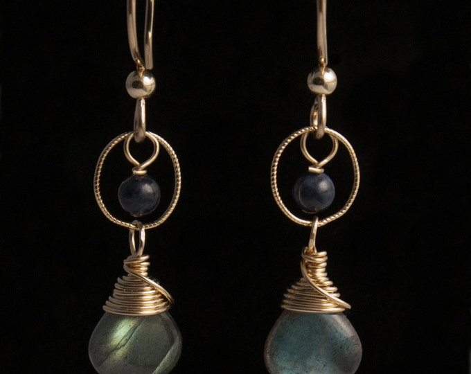 14K Gold Fill and Labradorite Earrings
