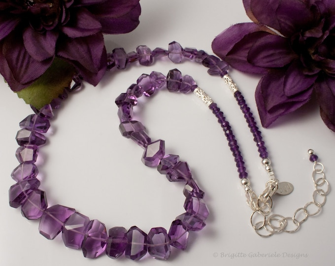 Handcut Amethyst Necklace