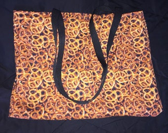 Pretzels Cotton Fabric Bag