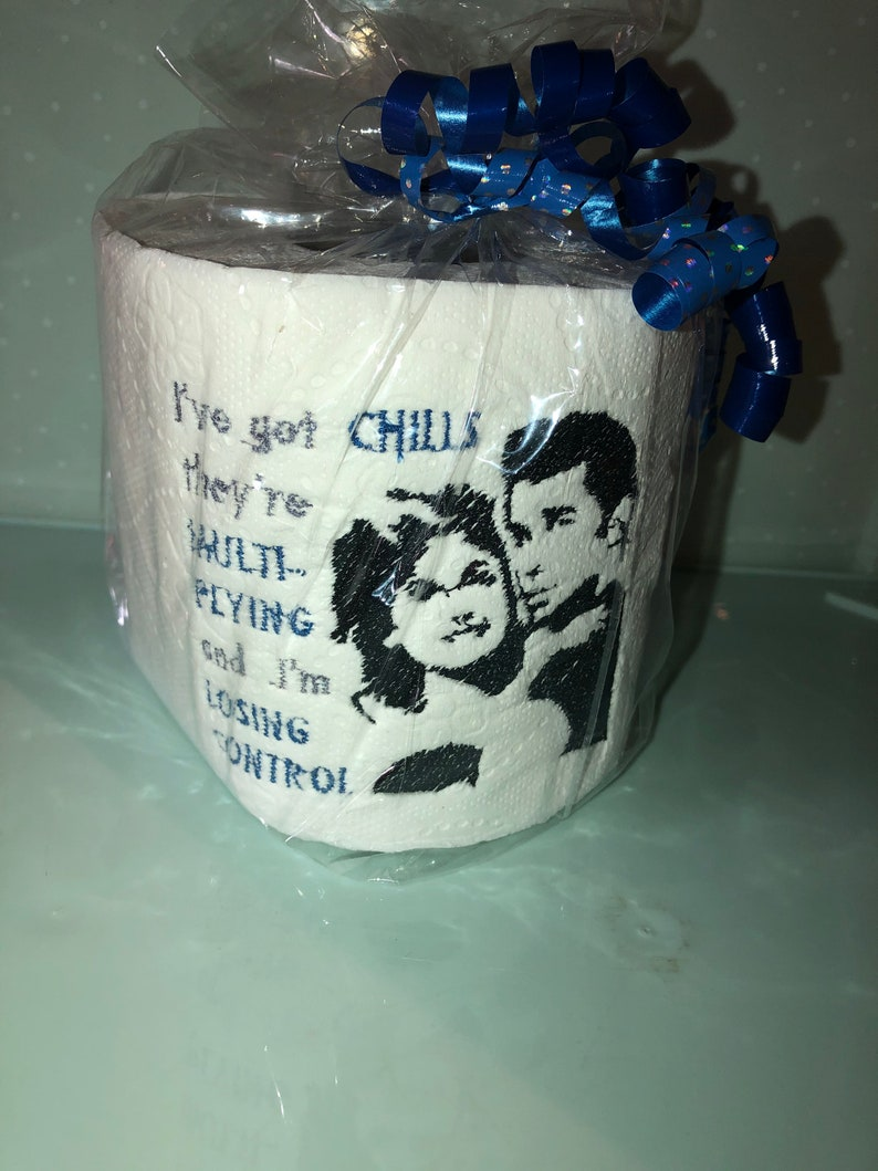 Grease Movie Pun Funny Embroidered Toilet Paper