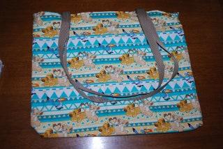 Lion King Simba & Nala Heart Tails Cotton Fabric Bag