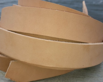 Leather Strap 1.25 wide sold by the foot, Veg tanned leather strap, 1 1/4 inch strap leather