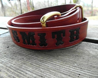 Personalized Leather Belt, Engraved Name Belt, Leather Belt with Name, Custom Name Belt