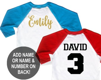 Personalize - Add Name or Name and Number on the Back of Shirt