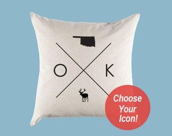 Oklahoma Pillow Etsy
