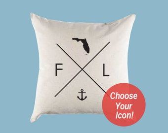 Florida Flag Pillow Etsy