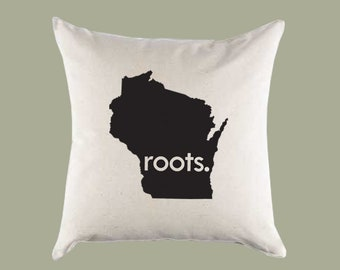 Milwaukee Throw Pillows Green Bay Wisconsin Home Decor Custom Wisconsin Pillow Covers 18x18 Wisconsin Personalized Gifts