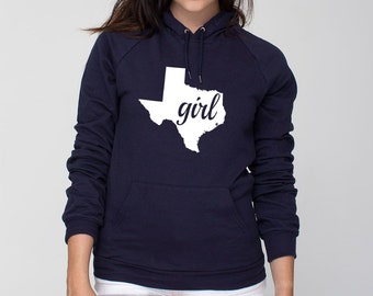 98854dbda Texas Girl Home State American Apparel Pullover Hoodie - Unisex Size XS S M  L XL 2XL