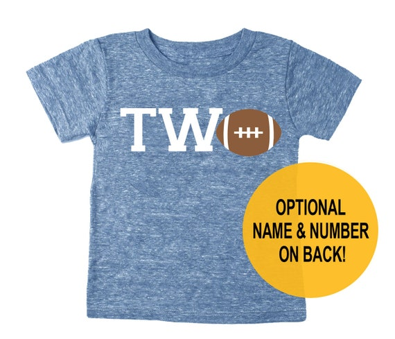 Second 2nd Birthday Two Football Tri Blend Toddler 2