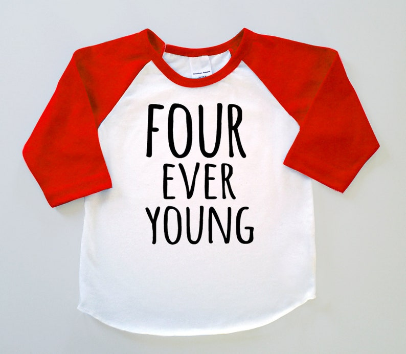 4th Birthday Gift for Four Year old Baseball Toddler Kids T-Shirt 4 year old