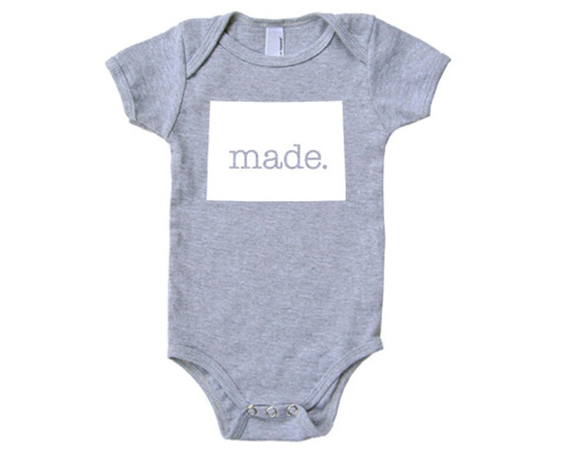 Colorado  /'Made./' Cotton One Piece Bodysuit Infant Girl and Boy
